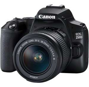 Canon EOS 250D DSLR Camera with EF-S 18-55 mm f/3.5-5.6 III Lens - 2 Year Warranty - Next Day Delivery